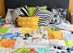 Marimekko Quilted Comforter Handmade Vintage and Contemporary Marimekko Fabrics by PantsandPillows
