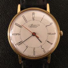 Vimpel Vintage Kirov Gold Plated AU20 Watch Soviet USSR LUCH Poljet POLJOT RARE   eBay