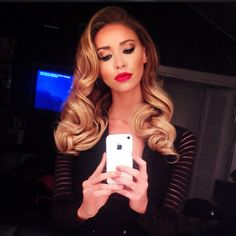 Lauren Pope Old Hollywood waves