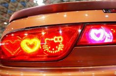 Hello kitty tail lights!