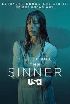 The 75th Annual Golden Globe Awards-The Sinner (USA-2017) a crime drama, mystery series developed by Derek Simonds. Based on novel by  Petra Hammesfahr. This series has been NOMINATED for Best Television Limited Series or Motion Picture Made For Television. The series follows the events that happen after a young mother kills someone in public but has no idea why she did so. Stars: Jessica Biel, Christopher Abbott, Dohn Norwood, Abby Miller, Bill Pullman.