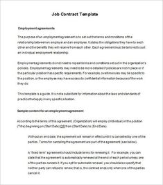 Employment Agreement Template Word Best Of 18 Job Contract Templates Word Pages Docs Letter Templates, Resume Templates, Templates Free, Illinois, Louisiana, Cleaning Contracts, Sign Up Sheets, Victorian Trading Company, Employee Handbook
