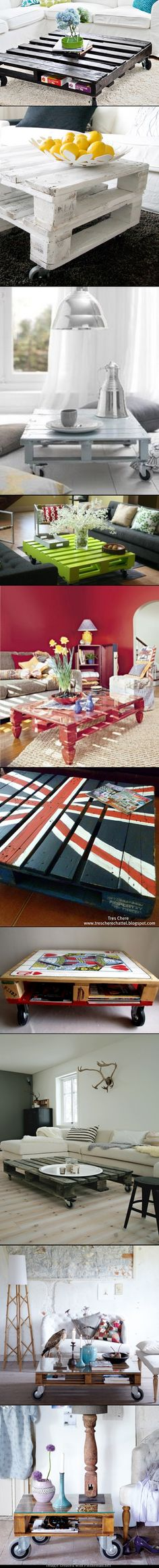 10 Home Decor DIY Unique Pallet Coffee Tables