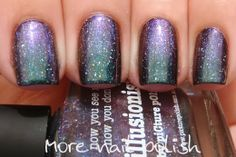 Picture Polish - Illusionist | More Nail Polish (over black)