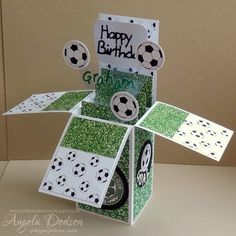 Football Pop Up Box Card by pollypurplehorse