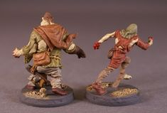 Miniature Mayhem: Zombicide Black Plague Runner & Fatty - Back Zombicide Black Plague, Garden Sculpture, Lion Sculpture, Miniatures, Statue, Painting, Art, Art Background, Painting Art