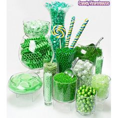 blue and lime green candy bar | Green Candy Buffets | Photo Gallery | CandyWarehouse.com Online Candy ...
