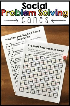 "3 games for students to practice social problem solving. Students will learn to solve problems instead of reacting to their emotions. Includes a role play game with 24 role-play scenario cards, an ""I have, Who has"" game, and a dice game. Students will get plenty of practice with a wide range of scenarios that they face in real life. Can be used with students who struggle with anger management, impulsivity, etc. More information is included in the preview!"