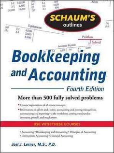 Confused by bookkeeping and accounting? Problem solved. Schaum's Outline of…