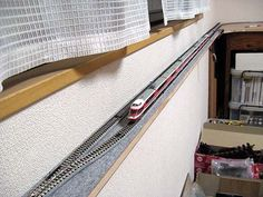 small space layout of n-gauge Model Trains Ho Scale, Model Train Layouts, Scale Models, Hobby Trains, Train Table, Small Spaces, Japanese, Trains, Miniatures