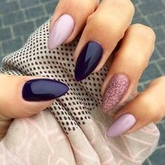 Pin For Trend Presented Trendy Almond Nail Designs For Beautiful Girls - Nail Art Images 2019 - 2020 (Latest Nail Polish Ideas And Images) Dark Color Nails, Dark Nails, Burgendy Nails, Oxblood Nails, Magenta Nails, Nails Turquoise, Pink Nail, Cute Nails, Pretty Nails