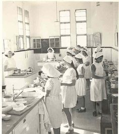 A 1936 Girl's Cooking Class in Israel