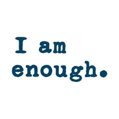 "Temporary Tattoos - ""I Am Enough."" (Simple) Manifestation Tattoo"