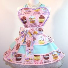 fifty style cupcakes | ... Apron Cupcakes Sexy Pin Up Style Triple Layer by WellLaDiDa, $50.00