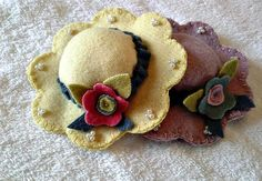 Spring Hat Flower Pincushion by farmersattic on Etsy, $14.99