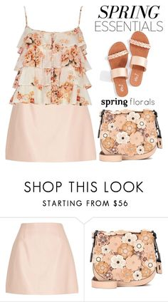 """""""Saddle bag for early Spring//Contest  entry"""" by shoaleh-nia ❤ liked on Polyvore featuring River Island and Coach"""