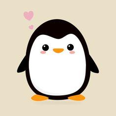 ✔ Cute Drawings Kawaii Black And White Cute Animal Drawings Kawaii, Cute Little Drawings, Cute Easy Drawings, Cute Kawaii Animals, Cute Cartoon Drawings, Cute Penguin Cartoon, Penguin Art, Penguin Drawing Easy, Art Watercolor