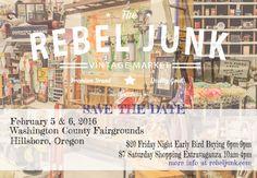 Rebel Junk Vintage Spring Market! Hillsboro, Oregon — REBEL JUNK
