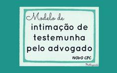 Modelo de intimação de testemunha pelo advogado (NCPC)  Devido ao Novo CPC, agora é obrigação do advogado intimar a testemunha e juntar o AR aos autos. Veja um modelo de intimação de testemunha de minha autoria.  Leia mais em: http://alessandrastrazzi.adv.br/modelos-de-pecas/modelo-de-intimacao-de-testemunha/  #NCPC #Modelos #Advocacia