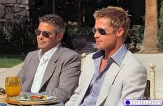 Brad Pitt and George Clooney - More hot guys in shades!
