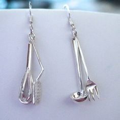 FashionJunkie4Life - Cooking Utensil Earrings - 925 Sterling Silver Dangle Earrings, $22.00 (http://www.fashionjunkie4life.com/cookingutensilearrings/)