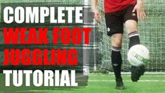 If you can't get at least 100 consecutive juggles on your WEAK FOOT this video is for you. Take your record from 10 to 100 quickly. Here is a complete. Soccer Coaching, Soccer Training, Soccer Dribbling Drills, Soccer Academy, How To Juggle, Michael Lewis, Sports Website, Muscle Memory, Soccer Tips