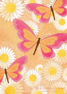 sweet and simple, a new butterfly illustration