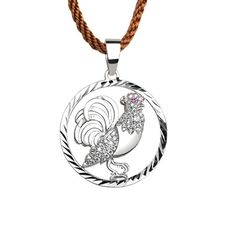 Lucky Rooster pendant for men