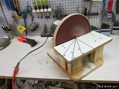 "how to build a disk sander, disc, 12"" big, wood, woodshop"