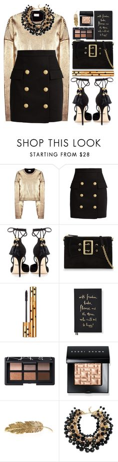 """#1120 Keren"" by blueberrylexie ❤ liked on Polyvore featuring Yves Saint Laurent, Balmain, Dolce&Gabbana, Burberry, Kate Spade, NARS Cosmetics, Bobbi Brown Cosmetics and Pluie"