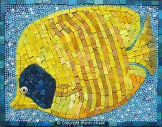 Angel Fish mosaic by Martin Cheek