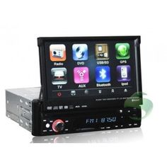 1 Din Car DVD Gps 7 inch Touch Screen with Radio TV Bluetooth Ipod-1