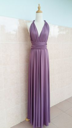 Mauve Rose Bridesmaids Dress Wedding Dress Infinity Dress Wrap Dress Convertible Dress Evening Cocktail Party Maxi Elegant Bridal Dresses