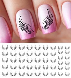 Angel Wings Water Slide Nail Art Decals - Salon Quality 5.5' X 3' Sheet! >>> To view further for this item, visit the image link.