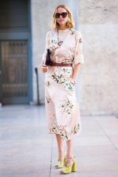 Une robe imprimé fleurs
