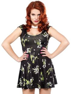 Monster Mosh Skater Dress