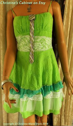 145bf5900e adorable lime green summer funky gypsy by ChristinesCabinet Boho Gypsy