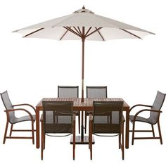 Rio 6 Seater Wooden Garden Furniture Set