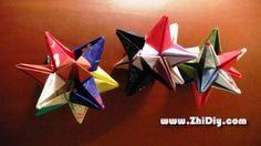 Origami 3-D star - tutorial