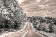 Photograph - Missouri Road Landscape Infrared by Jane Linders , Infrared Photography, Great Team, Art Images, Missouri, Craft Supplies, Road Trip, Country Roads, Fine Art, Wall Art