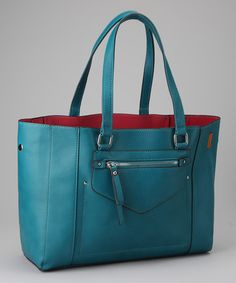 Peacock Blue Classic Satchel by David Jones