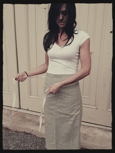 Made in the USA, our Indigo Ticking Bistro Apron. Support our Indiegogo project @ www.indiegogo.com/butcherandbaker