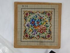 ANTIQUE BERLIN WOOLWORK HAND PAINTED CHART.