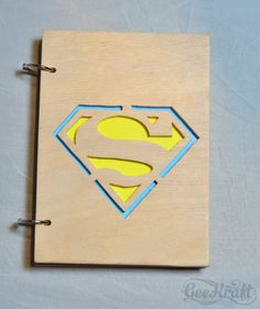 Wooden Sketchbook by GeeKraftShop Good gift for your boyfriend or girlfriend who are addicted geek themes 100% Hand-maded.  Make with love for you