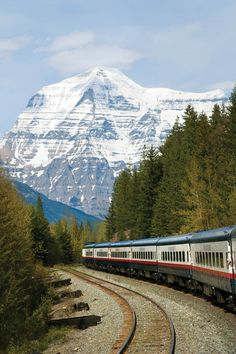 Rolling Through The Rockies, Vancouver - Canada.  Would love to take a train from Seattle through the Rockes.