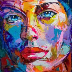 Franciose Nielly(Marseille) desenvolve uma pintura de cores vibrantes. Os seus retratos, usando a técnica da pintura com espátula assumem uma fisicalidade e materialidade que se complementam com os contrastes violentos de cor