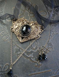MY HEART Victorian romantic gothic choker by TheVictorianGarden