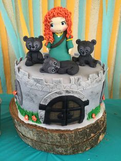 Check out this awesome birthday cake at this Disney Brave birthday party! See more party ideas and share yours at CatchMyParty.com