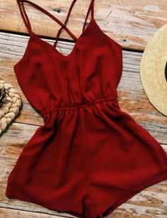 Dream Closet Couture New Arrivals - Dresses, Rompers & More! Casual Outfits, Summer Outfits, Cute Outfits, Fashion Outfits, Womens Fashion, Fashion Hair, Red Romper, Romper Outfit, Summer Romper