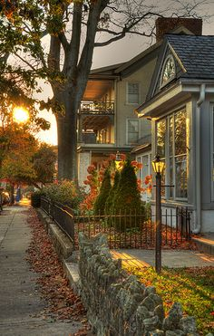 Autumn sunset, West Chester, Pennsylvania